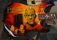 Mummy Guitar-1992-Tokyo-From the Kirk Hammett Collection--San Francisco, 5-26-2015 (kovno) Tags: cinema guitar horror movies karloff