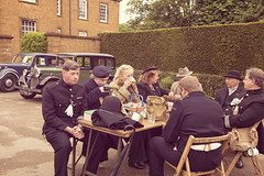 break time (malc_smith) Tags: world 2 house home war day wwii guard ve retro national trust ww2 reenactment reenactors troop upton solider
