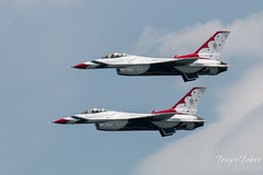 Air Force Thunderbirds solos flyby
