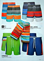 Shorts for men and dolls... (Deejay Bafaroy) Tags: blue red orange black men green rot fashion dolls pattern stripes ken barbie page shorts grn blau leaflet fr muster schwarz royalty mattel striped mnner homme puppen streifen seite bathers gestreift prospekt badehosen