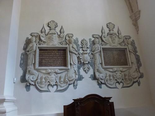 Epitafia proboszczów kazimierskich w kaplicy Borkowskich w kazimierskiej farze