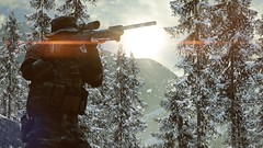 Snow Forest (The Lanky Soldier) Tags: road light snow mountains digital forest dark soldier photography daylight video high amazing war day quality military awesome 4 engine games videogames weapon sniper definition stunning aim battlefield detailed calmness lanky frostbite recon battlefield4 lankysoldier
