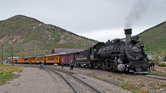 DSNG486DepartSilvertonCO6-13-15 (railohio) Tags: colorado silverton trains steam narrowgauge riogrande d90 durangosilverton dsng 061315 trains75