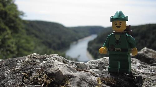 Der Wanderer am Donaudurchbruch [I]