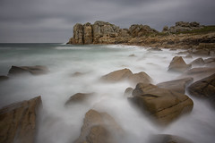 Plougrescant (Philippe Saire || Photography) Tags: ocean sea sky mer seascape france nature water weather rock stone clouds canon landscape vent photography eos coast photo brittany eau long exposure wind mark pierre iii horizon shoreline wave bretagne wideangle cte breizh explore ciel shore 5d coastline usm fullframe nuages paysage vague ff ef 1740mm rocher manche jete hoya bzh cokin nd400 littoral f4l plougrescant ctesdarmor gnd4 p121m pleinformat philippesaire