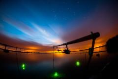 2am. (Sakuto) Tags: light sunset sky night sunrise dark stars landscape fishing colorful view outdoor poland stick 16mm zenitar