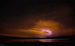 Lightnings and stars (Dabid Arriola (Aitz)) Tags: storm night clouds stars noche spain cielo nubes estrellas tormenta soria embalse nocturno rayos zerua gaua hodeiak izarrak tximista ekaitza