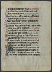 Psalter (Paslterium). [leaf from Ege medieval manuscripts] (DigitalProjectsUNCG) Tags: fish text illumination books medieval 1200s 1250s medievalmanuscript ottoege