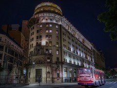 Walking Buenos Aires (karinavera) Tags: travel sonya7r2 buenosaires urban night publictransportation street bus transport florida nopeople city