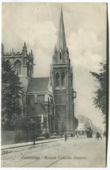 Catholic (Simon_K) Tags: cambridge cambs cambridgeshire eastanglia church street scene retro vintage heritage past tram omnibus horse cart