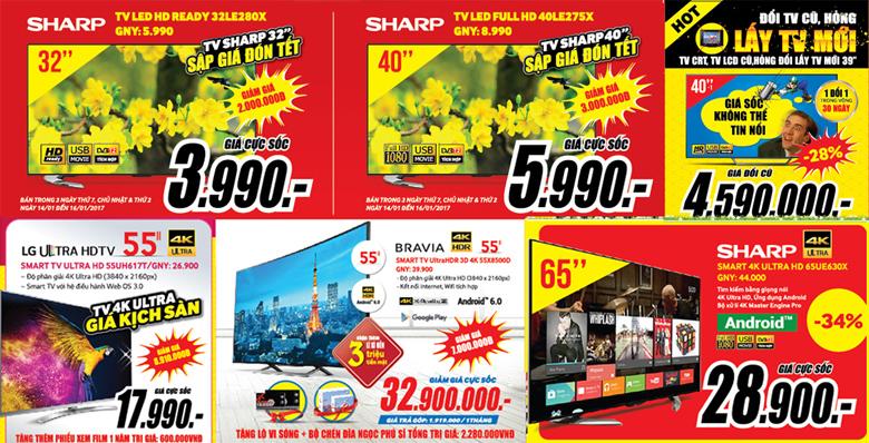 [BẢN TIN GẤP KHÔNG THỂ BỎ QUA] Cơ hội cuối cùng mua TV, Tủ lạnh, đồ gia dụng Giá Sốc đón Tết Đinh Dậu