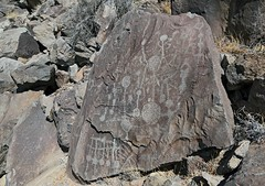 Petroglyphs / Little Lake Site (Ron Wolf) Tags: anthropology archaeology littlelake nativeamerican numicscratching abstract barbell grid petroglyph rockart california