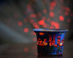 Fill it up with light! (Zsofia Nagy) Tags: ourdailychallenge bokeh d3100 depthoffield dof tabletop christmas festive candle light lights closeup colourful glass week24 alliwantforxmas macromonday celebration flickrlounge 7daysofshooting