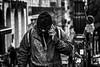 """""""...Devant la banque à 15h...!"""" (vedebe) Tags: humain people ville rue urbain city street noiretblanc netb nb bw monochrome"""