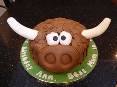 Highland Cow ! (Victorious_Sponge) Tags: highland cow birthday cake horns
