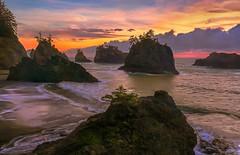 Southern Oregon Coast Sunset (Cole Chase Photography) Tags: secretbeach samuelboardmansceniccorridor oregoncoast sunset colors pacificnorthwest seastacks canon eos5dmarkiii