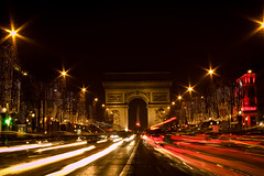 IMG_5134 (johnselfridge2140) Tags: paris france arcdetriomphe champselysee lighttrails city travel