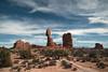 Balanced Rock (Curtis Gregory Perry) Tags: arches national park balanced rock utah balancing formation desert nikon d800e blue sky clouds