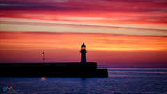 The Lighthouse and the Lamp (Dave Massey Photography) Tags: stives smeatonspier sunrise dawn sky ocean cornwall bluehour lighthouse