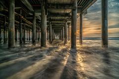 Shadows on the water (urbanexpl0rer) Tags: santamonicapier santamonica losangeles california ocean longexposure sunset shadows reflection beachpier