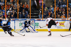 "Missouri Mavericks vs. Wichita Thunder, January 7, 2017, Silverstein Eye Centers Arena, Independence, Missouri.  Photo: John Howe / Howe Creative Photography • <a style=""font-size:0.8em;"" href=""http://www.flickr.com/photos/134016632@N02/32129251481/"" target=""_blank"">View on Flickr</a>"