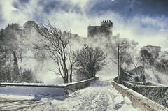 Castello di Lombardia Enna-vista da rocca di cerere (Danp86) Tags: snow castello di lombardia enna neve panorama freddo could