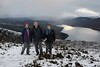 097-20161119_Ben Gullipen-Stirlingshire-view W from summit down Loch Venachar, with Ben Venue (in cloud, centre)-L-R Julia Kaye, Martin & Sheila Brown (Nick Kaye) Tags: scotland stirlingshire landscape mountains family julia friends