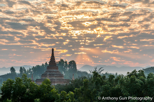 Beautiful Sunrise in Bagan, Myanmar