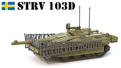 Stridsvagn 103D (Matthew McCall) Tags: lego sweden swedish army military cold war tank vehicle armor