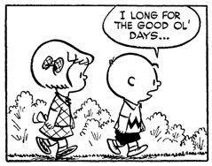 I long for the good ol' days... (Tom Simpson) Tags: peanuts charliebrown patty illustration comics 1952 1950s comicstrip newspapercomics charlesschulz charlesmschulz