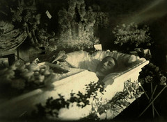 In Repose (~ Lone Wadi ~) Tags: death coffin casket funeral wake deceased corpse postmortem flowers retro 1910s unknown