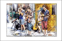 BUSKERS (Derek Hyamson (5 Million views)) Tags: hdr candids entertainers band buskers