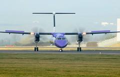 G-JEDT take off. (aitch tee) Tags: cardiffairport aircraft flybe turboprop airliner takeoff dhc8 gjedt cwlegff maesawyrcaerdydd walesuk ttail