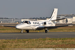 F-HFRA Cessna 501 Citation I/SP (Maxime Spotting Aviation) Tags: fhfra cessna 501 citation runway takeoff aircraft avion air bordeaux mérignac lfbd airport maxime camoujuncas nikon d90