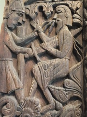 A cheerful little woodcut (John of Witney) Tags: art norway museum norge battle carving viking oslooslohistoricalmuseum