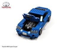 Toyota Supra A80 Coupe (lego911) Tags: auto car japan japanese model lego stuck render turbo toyota 1992 a80 coupe supercar challenge 92 1990s 90s cad lugnuts povray supra moc ldd miniland lego911 stuckinthe90s