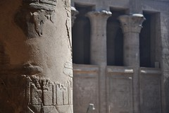 Temple of Philae (Thorsten Reiprich) Tags: africa city urban lake travelling water sunshine spring egypt unesco heat archeological assuan