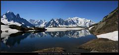 Mont-Blanc et lac des Chéserys (HimalAnda) Tags: panorama mountain lake alps reflection montagne alpes pano lac reflet montblanc panoramique eos400d canoneos400d stéphanebon