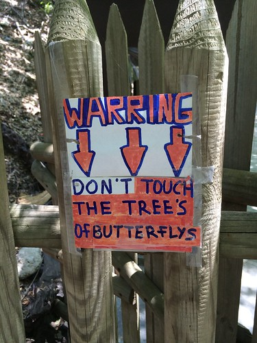 Sign at Butterfly Valley. Rhodes