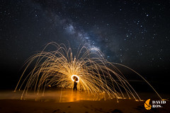 ORIGIN (David Ros Photography) Tags: lightpainting beach spain fireworks playa flashlight cartagena fuegosartificiales milkyway steelwool linterna calblanque vialactea molines canon6d espaãa lanadeacero