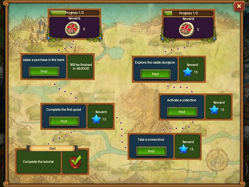 The Tribez & Castlez - Play with friends! Missions: screenshots, UI