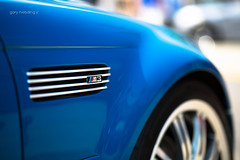 BMW E46 M3 (garyhebding) Tags: bw vent fender german m3 e46 i6 supercarsaturday lagunasecablue canonef85mmf18usm canoneos5dmarkiii