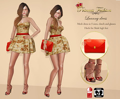 DRESS LUANNY (princessfashion100) Tags: life mesh body spirit omega free sl second hunter marketplace breathe uber banned tmp lolas reign freebie slink bellza ryca dollarbie kitja pinkfuel wasabipills lelutka appliers labelmotion