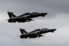 Hawk T2 pair: Team Ninja (DrAnthony88) Tags: aircraft royalairforce raffairford teamninja nikond810 modernmilitary baesystemshawkt2 nikkor200400f4gvrii royalinternationalairtattoo2015 riat2015