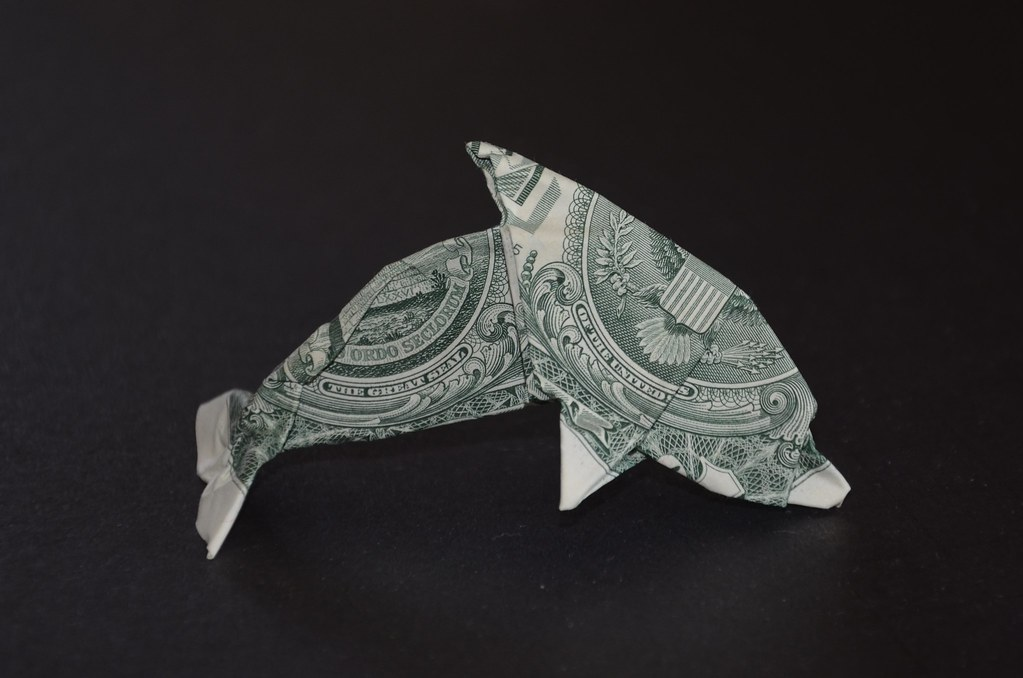 The world 39 s best photos of moneygami and origami flickr for Dollar bill origami fish