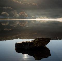 Squaring up to Crafnant (PSHiggins) Tags: crafnant lake llyn wales welsh cymru gogledd icy mist ice calm rock reflect reflection water dwr conwy nikon fx fullframe 35mm d610 square