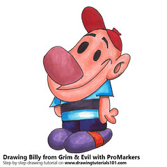 Billy from Grim & Evil with ProMarkers (drawingtutorials101.com) Tags: grim evil billy cartoon network tv cartoons promarkers alcohol markers promarker coloring drawing draw speeddrawing timelapse timelapsevideo sketch how color