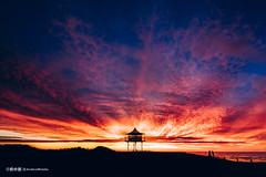 Firewatch (anderswotzke) Tags: southaustralia semaphore beach silhouette colour sunset lifesavers baywatch firewatch adelaide coast australia sony a7rii landscape sky clouds