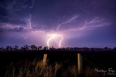 Bolts and Crawlers over South East Queensland Australia.   http://www.facebook.com/murrayfoxphotography/ (Muzfox) Tags: storm lightning ipswich queensland australia weather night landscape bolts crawlers fence post rural country boonah aratula scenicrim