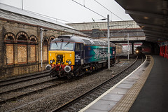 57307 Crewe 18012017 (TheSilkmoth) Tags: ladypenelope 57307 class57 zombie bodysnatcher drs directrailservices crewe crewestation cheshirerailways